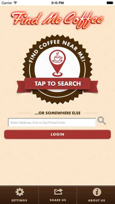 find coffee shop near app